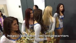 Golden State Warriors tunnel entrance at NBA Day: Steph Curry, Durant, Zaza jokes, Klay rests 1of2