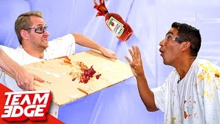 Condiment Bottle Flip Challenge!!