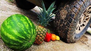CRUSHING Satisfying Fruit & MORE w/ Truck!! *CRUNCHY, SOFT, SQUISHY*