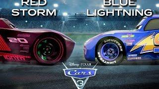 CARS 3 | Red Jackson Storm vs Blue Lightning McQueen | Edited/Review Trailer Final
