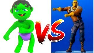 HULK PLAYS FORTNITE VIDEO GAME ❤ Spiderman, Hulk & Frozen Elsa PlayDoh Cartoons For Kids