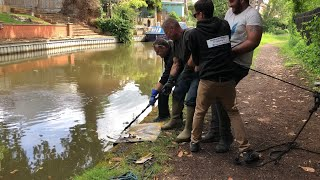 Extreme magnet fishing. Using a 2 ton winch. Knife and other amazing finds in Leicestershire  #10