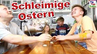 SCHLEIMIGE FROHE OSTERN   Lustige Ostereier Challenge   TipTapTube