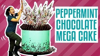 How To Make A PEPPERMINT CHOCOLATE MEGA CAKE | Yolanda Gampp | How To Cake It