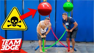 Race to Pop the Nasty Balloon Challenge!! | Don
