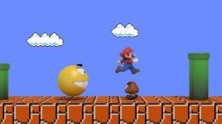 Pacman vs Super Mario CRAZY BATTLE