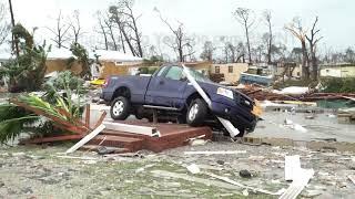 Hurricane Michael  Slams Mexico Beach, FL - 10/10/2018