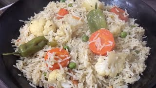 Vegetable Pulao (how to make vegetable pulao)