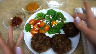 Cooking ASMR : Russian Beef and Buckwheat Patties. Soft Spoken. Back to Basics. Eating sounds.