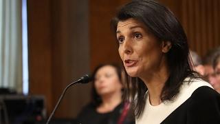 Trump pick Haley breaks from him on Russia
