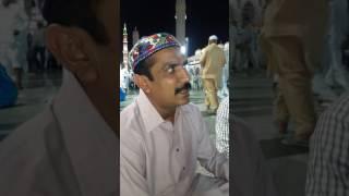 اکرم نظامی نے مسجد نبوی میں نعت شریف پڑھی