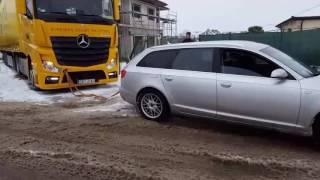 Audi quattro kontra TIR