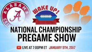 National Championship Pregame Show 2017: Alabama vs Clemson