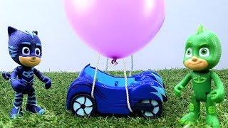 PJ Masks Toys: Catboy und Gecko bauen einen Heißluftballon – PJ Masks Video auf Deutsch