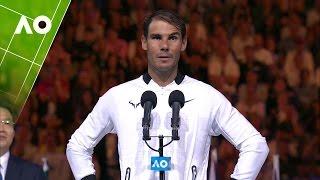 Rafael Nadal congratulates Roger Federer on his win   Australian Open 2017