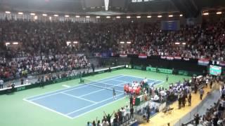 Davis Cup Croatia France - Cilic vs Gasquet Match Point