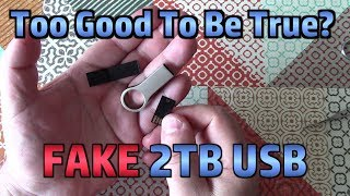 Testing A *FAKE* 2TB USB Flash Memory Stick (SCAM from Wish.com)