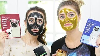 TRYING DIFFERENT FACE MASKS w/ iJustine!
