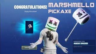 Fortnite Marshmello  Pickaxe! All locations! Epic Fortnite Pickaxe!