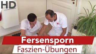 Fersensporn // Übungen mit der Faszien-Rolle gegen Schmerzen in der Ferse / Faszientraining