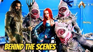 Aquaman Bloopers, B-Roll, & Behind the Scenes - Jason Momoa & Amber Heard