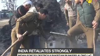 Indian forces destroy six Pakistani bunkers along LoC