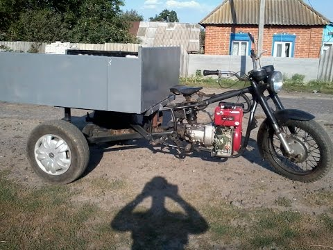 Трицикл своими руками из мотоблока