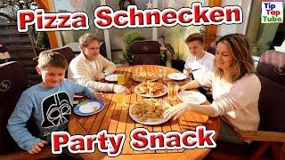 Party Schnecken Pizza Snack Kochen und Backen Vlog TipTapTube