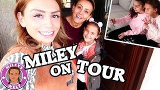 MILEY ON TOUR | ÜBERNACHTUNG MIT IHREN MÄDELS | Vlog MILEYS WELT