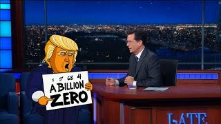 Cartoon Donald Trump Has The Biggest Numbers