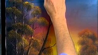 Bob Ross -  Malerei goldenen Sonnenuntergang - Malerei Video