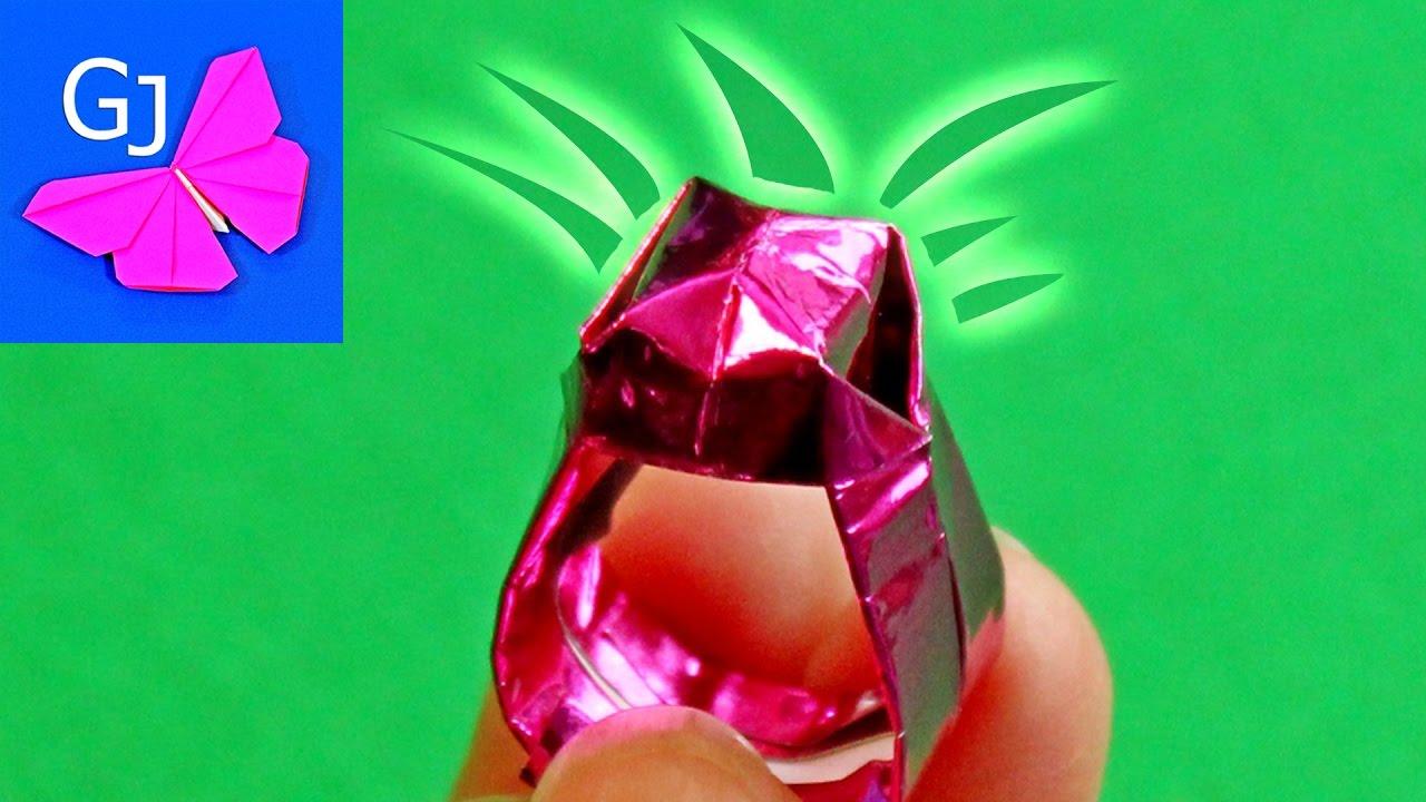 Как сделать обручальное кольцо из бумаги
