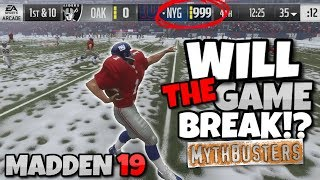 WHAT HAPPENS IF YOU EXCEED THE SCORE LIMIT IN MADDEN 19!? Madden 19 Mythbusters #4