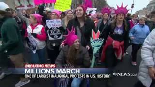 Trump's First Day Met by Demonstrations in Cities Around the US