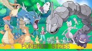 Pokémon Sizes (Kanto)