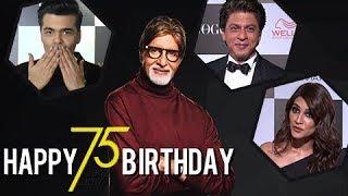 Shahrukh Khan, Karan Johar And Other Celebs Wish Amitabh Bachchan On His 75th Birthday