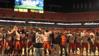 Clemson players sing Alma Mater after 2014 Orange Bowl win