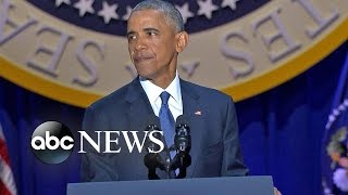 President Obama Emotional Farewell Address | ABC News