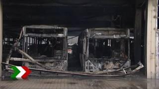 Busdepot in Bottrop niedergebrannt- Schaden im zweistelligen Millionenbereich