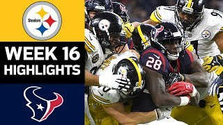 Steelers vs. Texans | NFL Week 16 Game Highlights