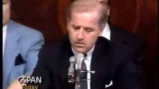 Clarence Thomas Hearings: Biden Questions Thomas 1