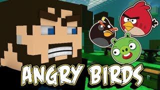 Minecraft Angry Birds - Pigs Don