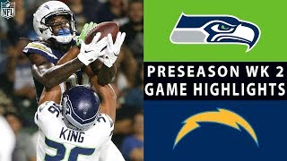 Seahawks vs. Chargers Highlights | NFL 2018 Preseason Week 2
