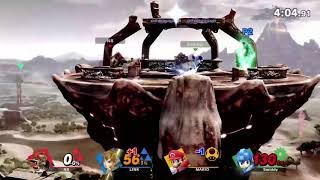 Super Smash Bros. Ultimate Full Match on New Zelda Stage - E3 2018