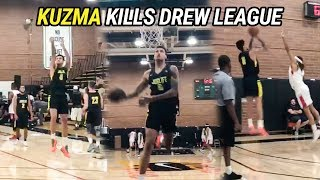 Kyle Kuzma Rolls Up To The DREW LEAGUE! Lakers Star GOES OFF!
