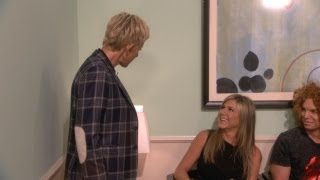 Ellen Goes Behind the Scenes