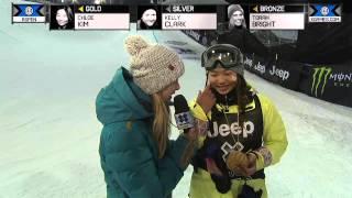 Chloe Kim wins gold in Women's Snowboard SuperPipe - Winter X Games