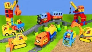 BAGGER, ZUG, LASTWAGEN, KRAN & SPIELZEUGAUTOS Kinderfilm | LEGO DUPLO Baustelle für KINDER deutsch