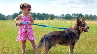 Cute Babies Walking Dogs Compilation (2014)