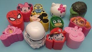 Surprise Egg Opening Memory Game for Kids!  Avengers Spider-Man Disney PJ Masks Peppa Pig!
